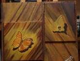 mariposa y hoja