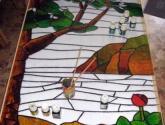 detalle de vdriera cocina (pintada)
