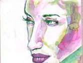 retrato femenino anilinas serie .1