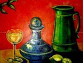 copa de vino con jarra