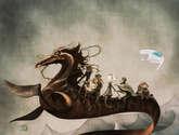 un caballo marino en apuros
