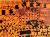 universo en color naranja