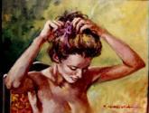 arreglandose el pelo