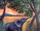 el elefante del lago
