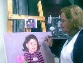 pintando a mi sobrinita nieta emilia millaray