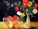 frutas y amapolas