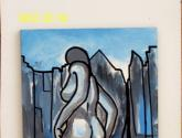 woman walking naked on the city