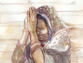 orando en el ganges