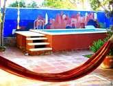 mural : paisaje de marruecos.