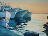 barcos de pesca en el puerto de santapola