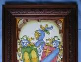 cuadro heraldico con el escudo de sus apellidos