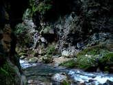 sendero en el río escanela