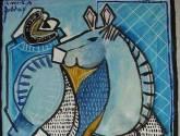 azul el caballo