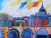 viaje a roma multicolor