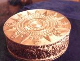 piedra de tizoc: réplica museo antropología(méxico)