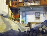 la casa de la puerta azul, lastres