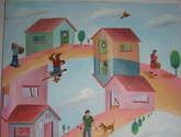 saban arte  -  hermanosaban - saban pinturas - guatemala - el pueblo