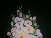 búque de rosa sobre vaso