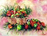 cesto de manzanas