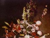 jarron de porcelana china con flores