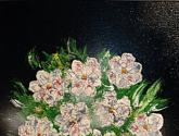 flores blancas-pintura
