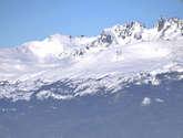 vista de cumbres de islas navarino y hoste,