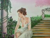 la dama en el rosal