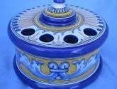 tintero de ceramica de talavera