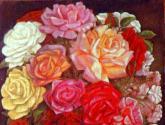 jarron con rosas