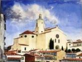 cadaques . vista de la iglesia
