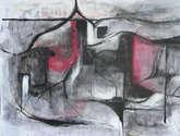 441- abstracto rojo, negro, blanco