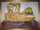 mujer recostada