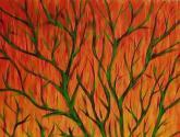 ramas sobre naranjas
