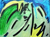 abstracto en verdes