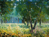 summer palette knife oil painting my3 artist valery rybakow
