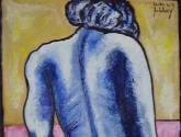 desnudo azul de espaldas