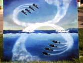 aviones y delfines