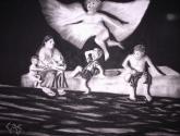 anjo abençoando