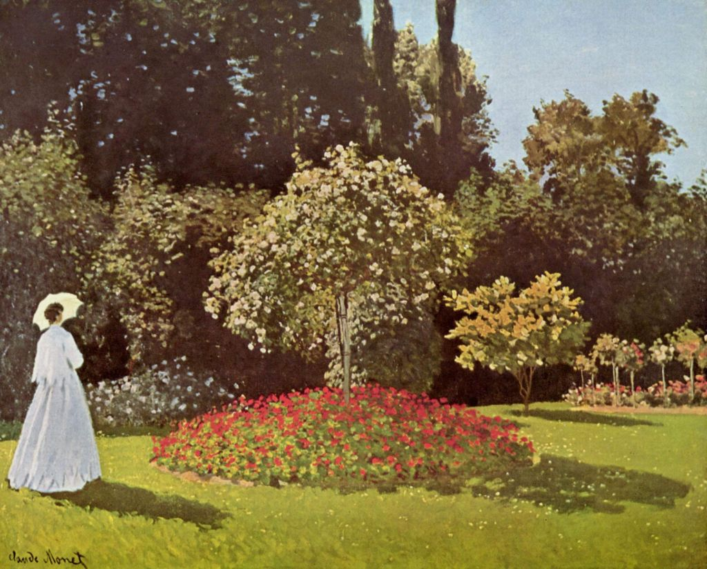 Prints of Jeanne-Marguerite Lecadre in the Garden (Lady in Garden at ...