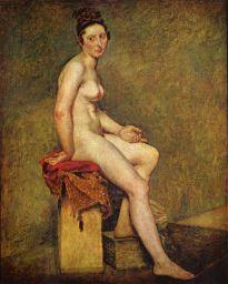 desnuda sentada
