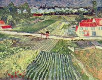 landscape with cart and train, 1890