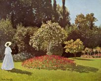 jeanne-marguerite lecadre in the garden (lady in garden at sainte-adresse), 1866