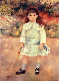 la niña con un látigo. 1885
