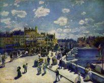 el pont neuf en parís, 1872