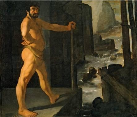 Hércules desvía el curso del río Alfeo, por Zurbarán, 1634, Museo del Prado