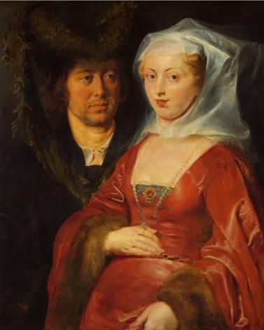 Ansegisus & Saint Bega, por Rubens, 1612