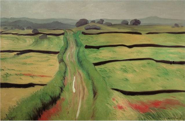 Camino en la landa, Vallotton, 1917