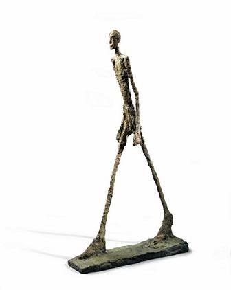 Hombre que camina I, por Giacometti, 1960