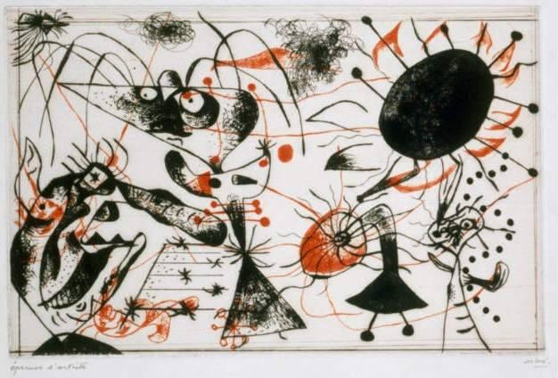 Série noire et rouge © Successió Miró 2013